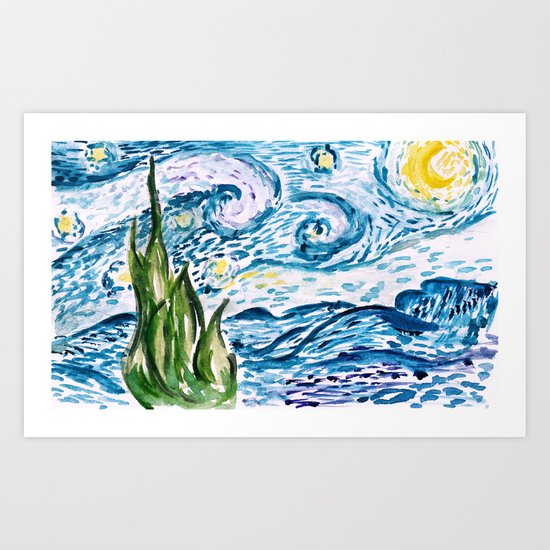 We built our starry nights. Art Print