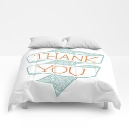 Thank You (colour version) Comforters