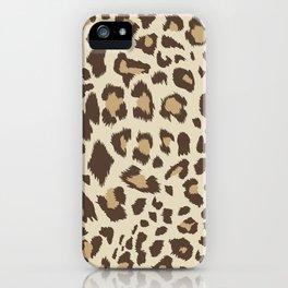 Seamless leopard pattern T-Shirt iPhone Case