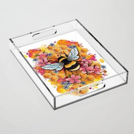 Neo Traditional Bee Acrylic Tray