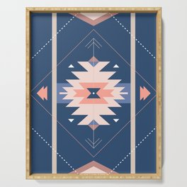 Kilim Inspired Navy Serving Tray