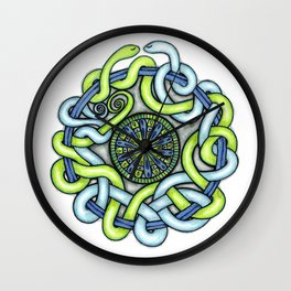 Tangled Serpents Wall Clock