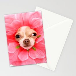 Chihuahua Flower Stationery Cards