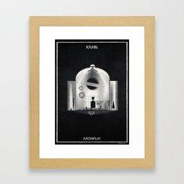 06_ARCHIPLAY_louis kahn Framed Art Print