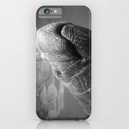 I Heart Manatees B&W iPhone Case
