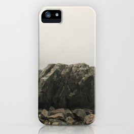 Stone portrait Lake Serene iPhone Case
