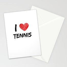 I Love Tennis Stationery Cards