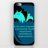 smaug iPhone & iPod Skins featuring O Smaug by Fairly Artful Artworks