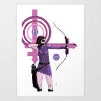kate bishop Art Prints featuring Kate by Jon Bass