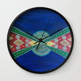 Colors of Yemen Wall Clock