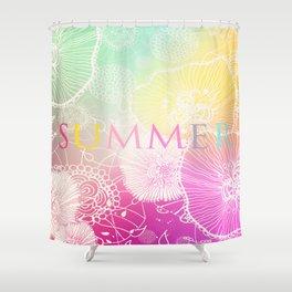 FESTIVAL PRISMATIC SUMMER RAINBOW Shower Curtain
