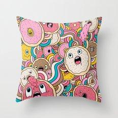 Donut Doodle Throw Pillow
