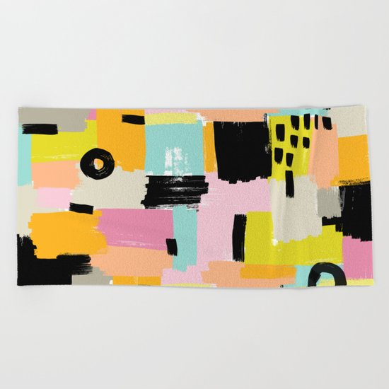 Color section001 Beach Towel