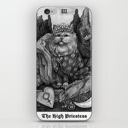 The Empress - Cat Tarot card iPhone Skin