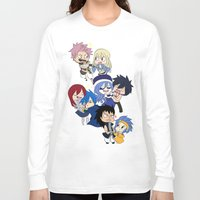 fairy tail Long Sleeve T-shirts featuring Fairy Tail Chibi Couples by Minty Cocoa
