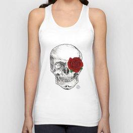 Rose Skull Unisex Tank Top