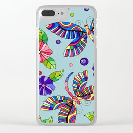 Butterflies -2 Clear iPhone Case