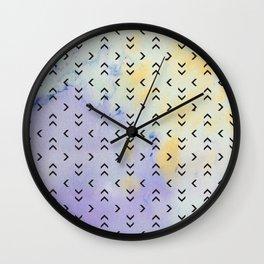 Watercolor Arrow Pattern Wall Clock