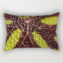 Bumpy Begonias Rectangular Pillow