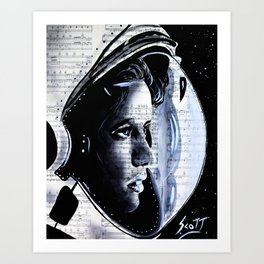 The First mother in space  Anna Lee Fisher Art Print
