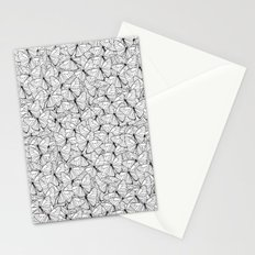 Butterflies Black on White Stationery Cards