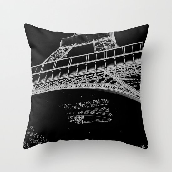 Digital Eiffel Throw Pillow