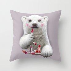 PAULA LIPSTICK Throw Pillow