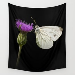 """White butterfly """"Pieris napi"""" Wall Tapestry"""