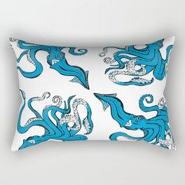 Sea-life Collection - Octopus - Ocean-Blue Rectangular Pillow