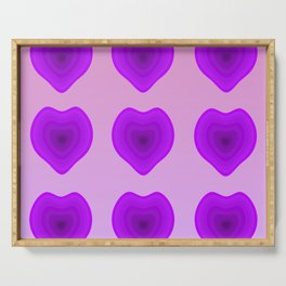 Purple Hearts Serving Tray
