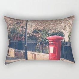 Red Postbox In Spring Rectangular Pillow