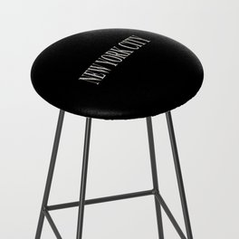 New York City (type in type on black) Bar Stool