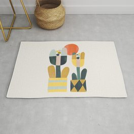 Two flowers Rug