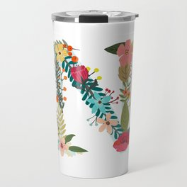 Monogram Letter N Travel Mug