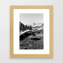 Maroon Bells Mountains Colorado Framed Art Print