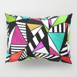 Geometric Multicolored Pillow Sham