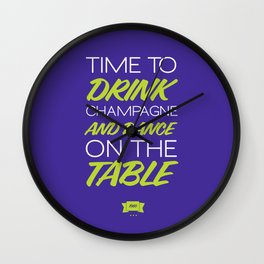 It's Time to Drink! Wall Clock