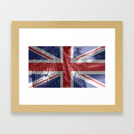 Big Ben - UK Flag Framed Art Print