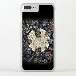 Zombies attack (zombie circle horde) Clear iPhone Case