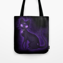 Purple Eyed Cat Tote Bag