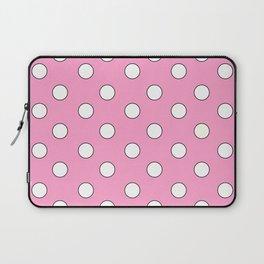 Pink Pastel Polka Dots Laptop Sleeve