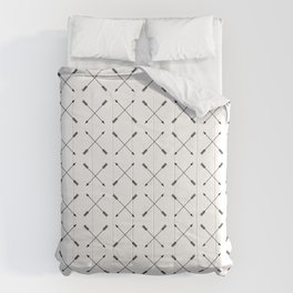 Crossed Arrows Pattern - Black and white Comforters