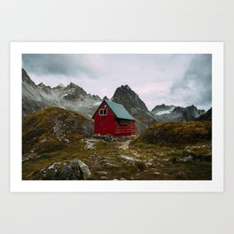 The Mint Hut in Hatcher Pass, Alaska Art Print