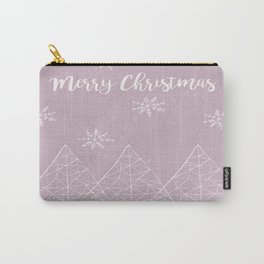 Merry Christmas Pink Carry-All Pouch