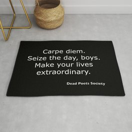 Dead Poets Society quote Rug
