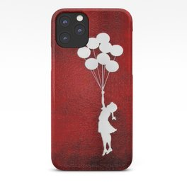 Banksy the balloons Girls silhouette iPhone Case