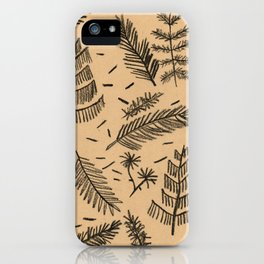 Kraft Paper Pine iPhone Case