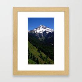 (#92) West Face of Mount Hood Framed Art Print