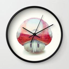 Mushroom - Kart Art Wall Clock