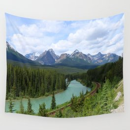 Morant's Curve - Bow Valley Parkway Wall Tapestry